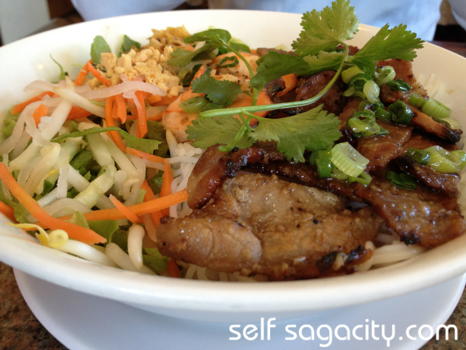 Bun Tom Thit Nuong Grilled Shrimp & Pork Vermicelli