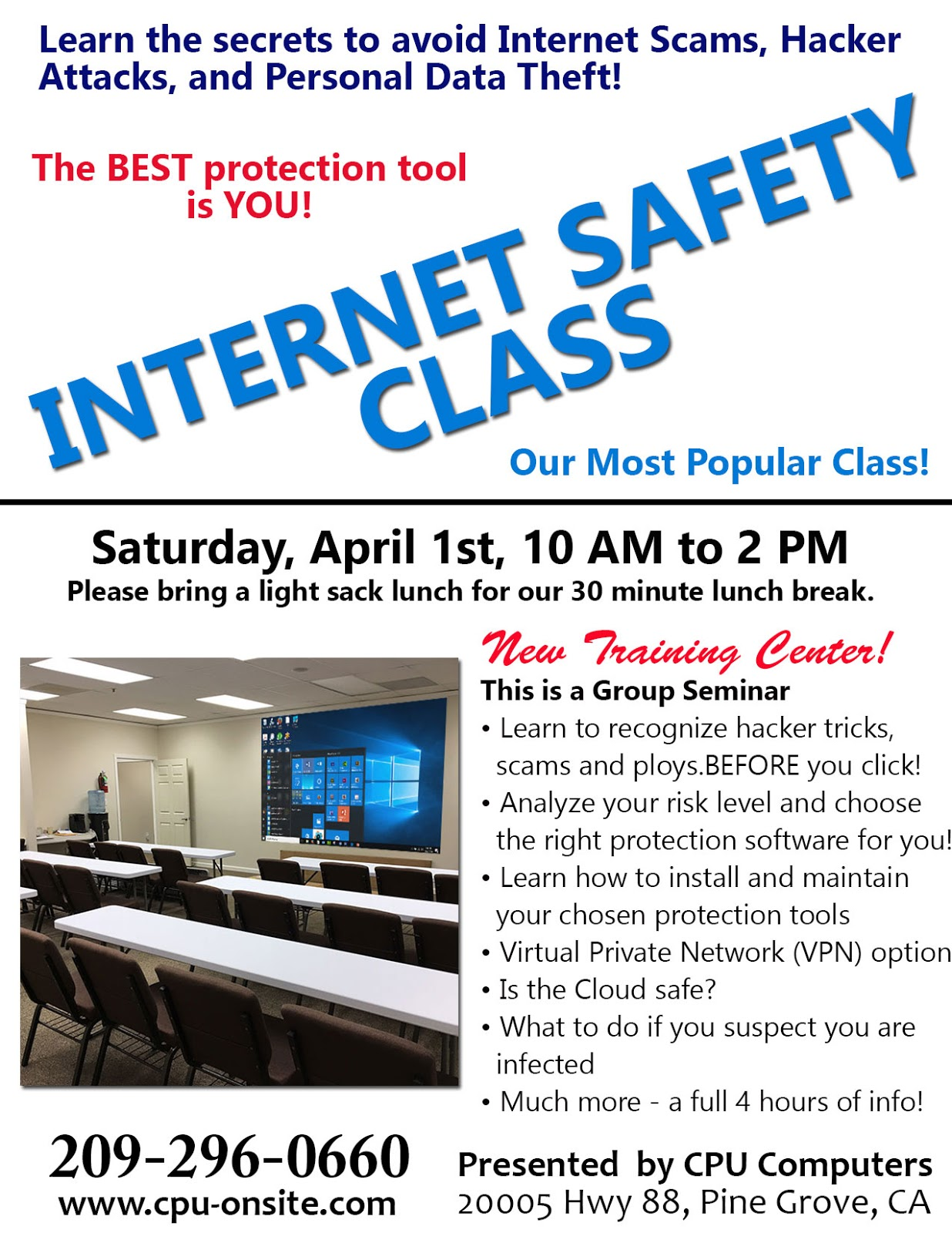 Internet Safety Class - Sat Apr 1