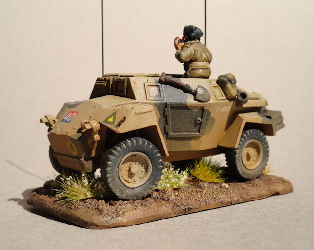 Humber Scout Car, HQ 4/22 Field Artillery, South African 6th Armoured Division 1944, Warlord Games, 28mm, 1/56th
