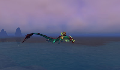 Green windserpent dragon mount