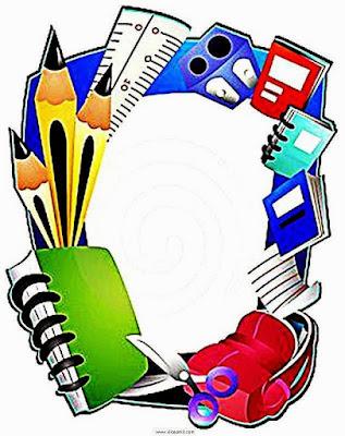 Bordas pedagógicas coloridas para escola
