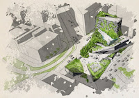 An architectural rendering of one Climate Museum design. (Credit: Erin Graham/RISD) Click to Enlarge.