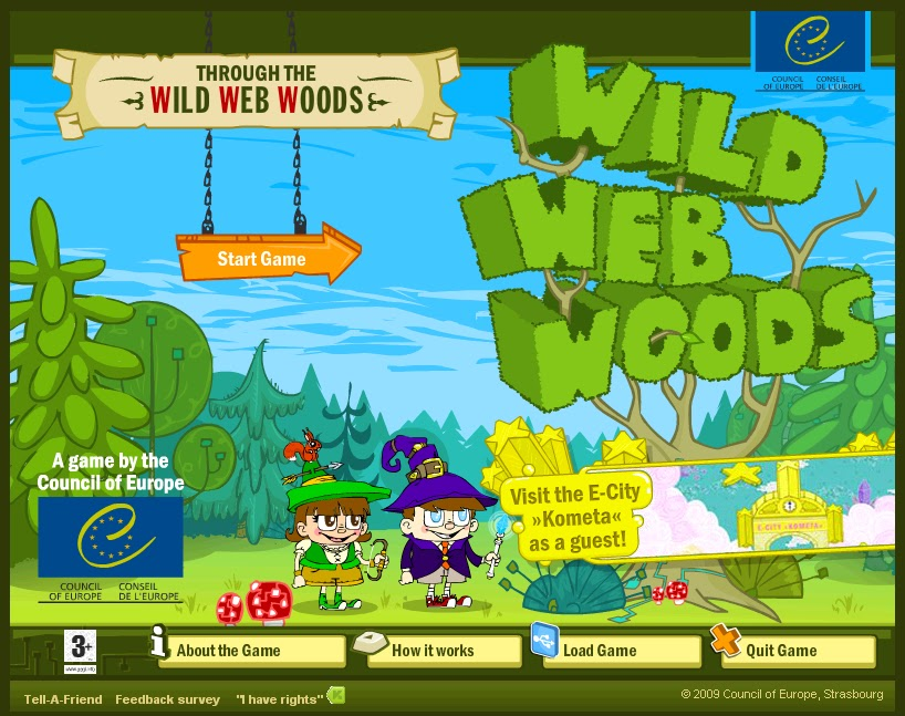 Cover of 'Through the wild web woods: an online internet safety game for children.'
