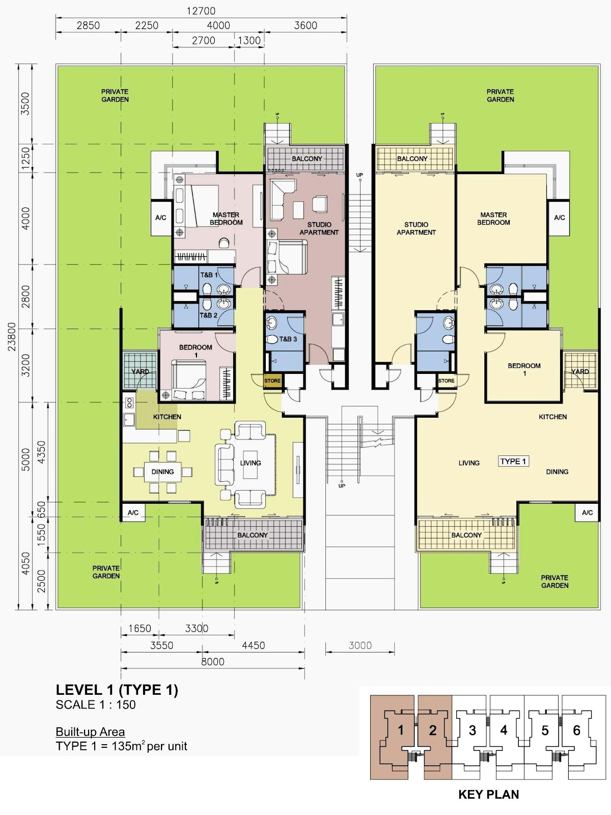 Rhpark Floor Plan Villa Level 1 Type 1