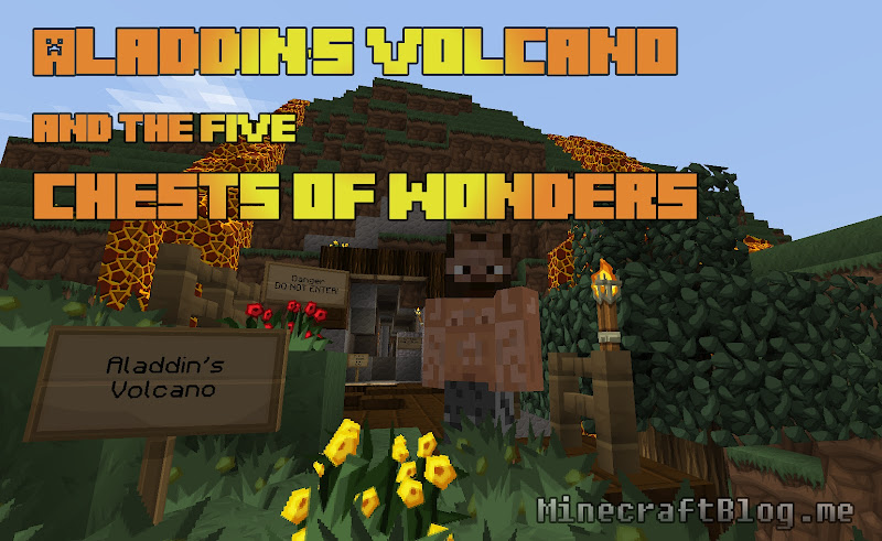 Of Minecraft Puzzle Game Quot Aladdin S Volcano And The Five wallpaper title=