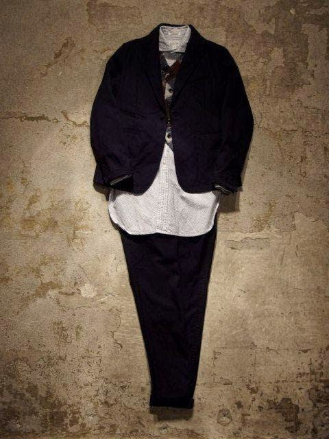 FWK by Engineered Garments Tux Jacket & Tux Pant in Navy Wool Uniform Serge Fall/Winter 2014 SUNRISE MARKET