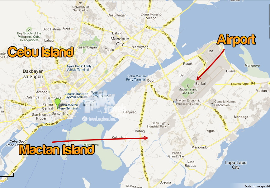 Mactan Island Philippines  City pictures : Image Mactan Island Cebu Philippines Map Download