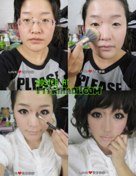 tutorial mekap muka wajah cantik cun berseri comel 2011 2012