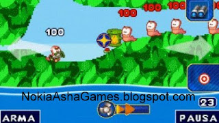 Download: Worms 2010 java touch game download for Nokia Asha 305 308