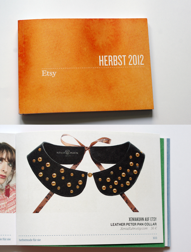 Xenia Kuhn Peter Pan collar in the Etsy Press book