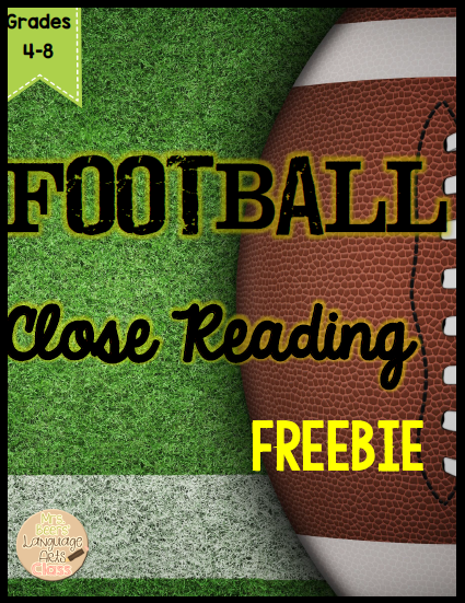 https://www.teacherspayteachers.com/Product/FOOTBALL-Close-Reading-FREEBIE-for-Grades-4-8-1678886