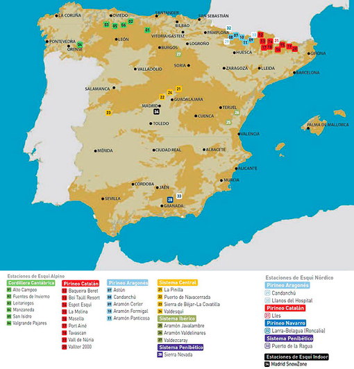 Ski Resorts of Spain