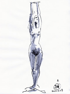 2 Minute sketch of nude by David Meldrum