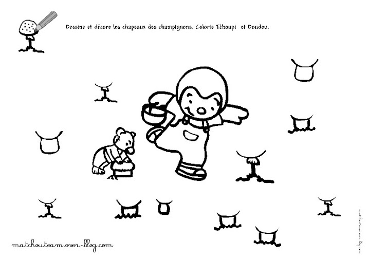 Célèbre Ma Tchou team: T'choupi et Doudou, les fiches à imprimer IE47