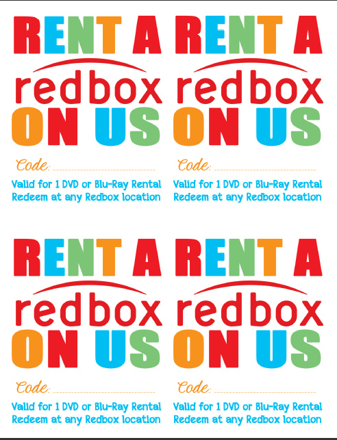 graphic relating to Redbox Printable Tags identified as Dwell and Master: Random Delighted - Reward a Redbox Video Night time