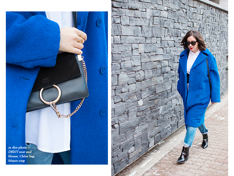 How to wear cobalt blue for winter
