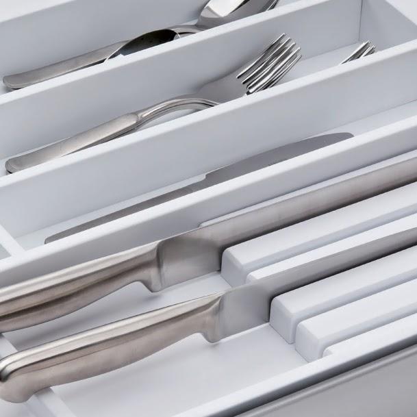 cubertero cajon cocina blanco lacado diseño madera
