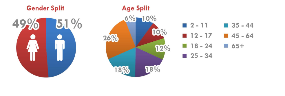 demographics for the inventory served