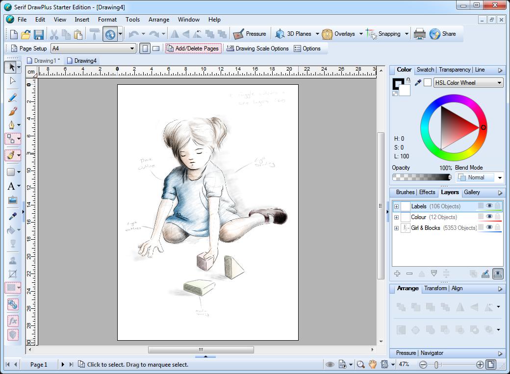 برنامج Serif Drawplus X6 لتصميم وتحرير وانشاء الرسومات والصور Bramj12