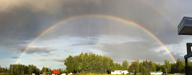 Double, Rainbow, Alaska, Summer, Sterling, Hwy