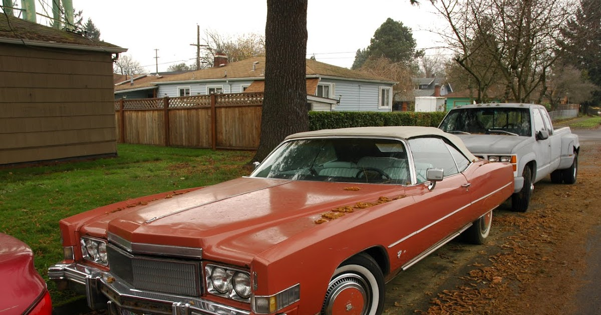 Old Parked Cars 1974 Cadillac Eldorado Convertible