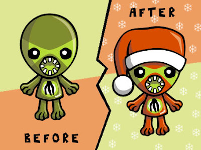 It's a Monster Mascot Christmas makeover!