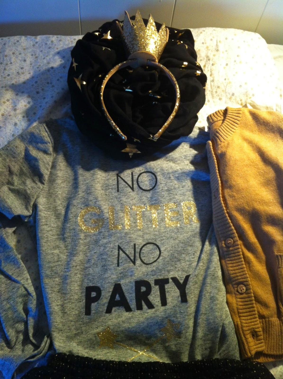 Camiseta NO GLITTER NO PARTY, ZARA KIDS