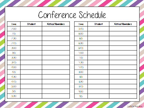 conference sign up sheet template .