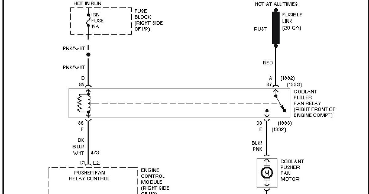 1992 Pontiac Trans Sport 3 1l  Vin D   Cooling Fan Circuit  W   Pusher Fan System Wiring Diagrams