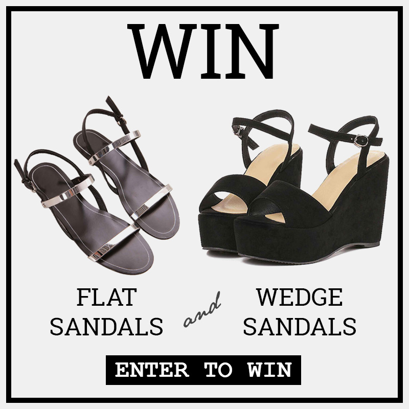Wedge sandals and flat sandals giveaway