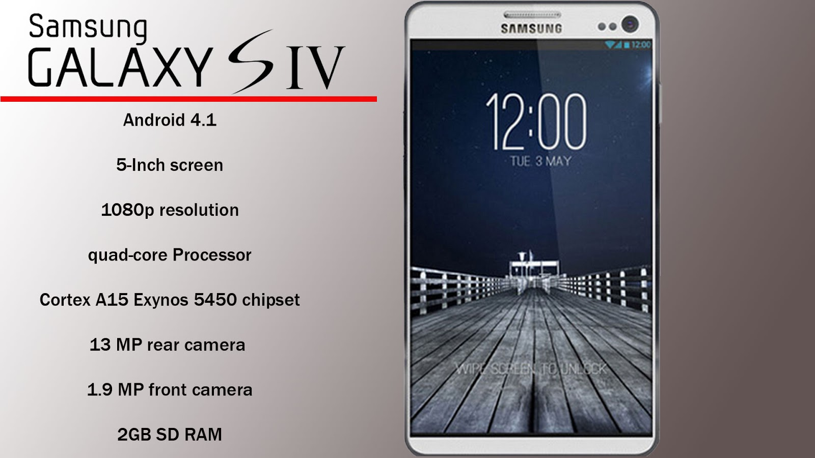 Samsung Galaxy S4 rumored specs