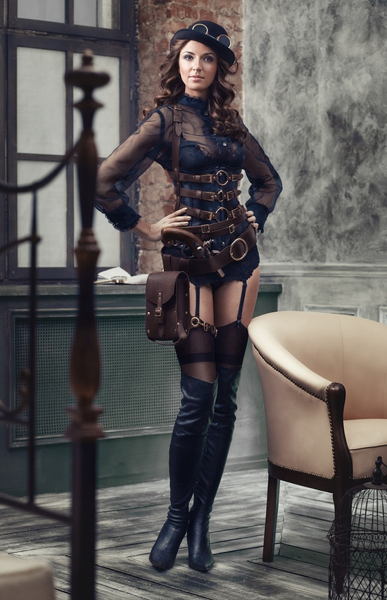 DevilInspired Steampunk Dresses Sexy Corsets In