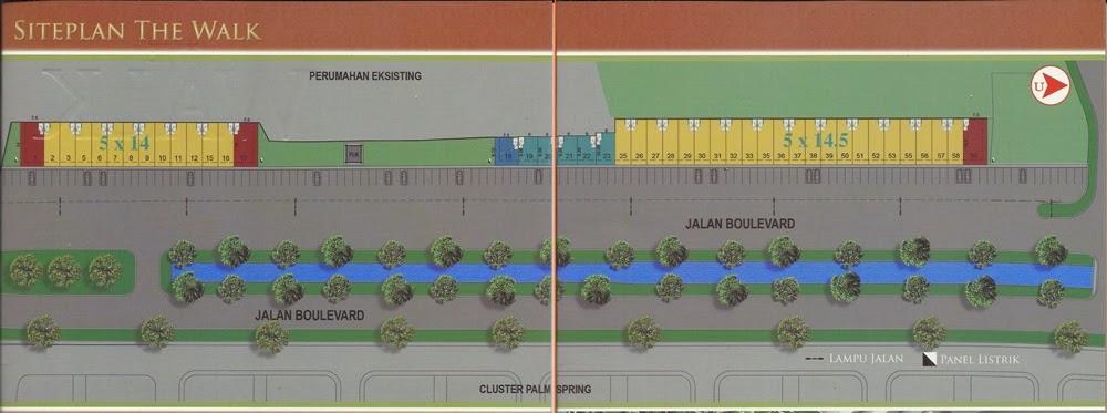Rukan 3 lantai, The Walk di Jakarta Garden City
