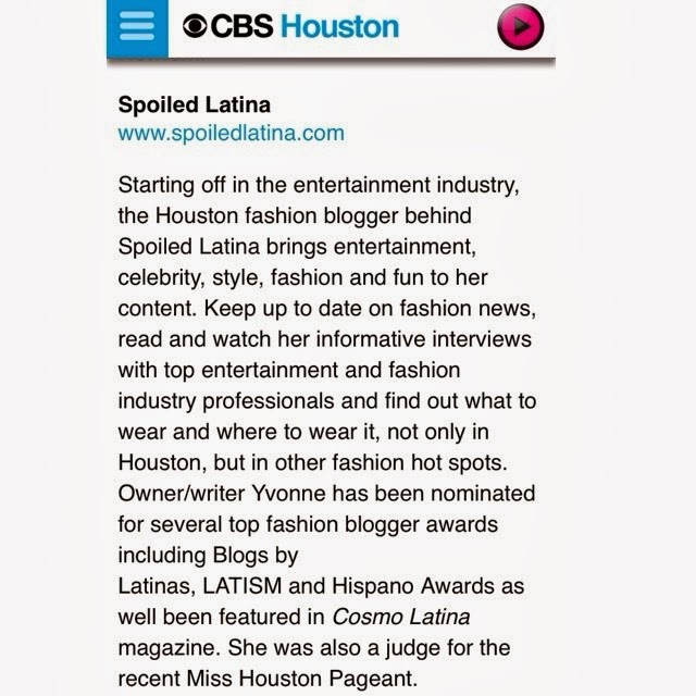 SpoiledLatina.com was Named One of the Top Fashion Blogs in Houston!!