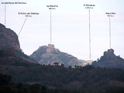 Roca Mur i la Morella des de la urbanització El Racó. Autor: Carlos Albacete