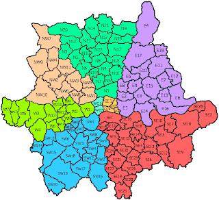 london map postcodes