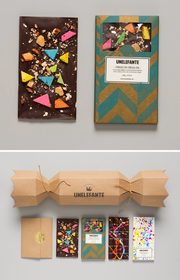 the dieline, unelefante chocolate, colorful chocolate, chocolate packaging