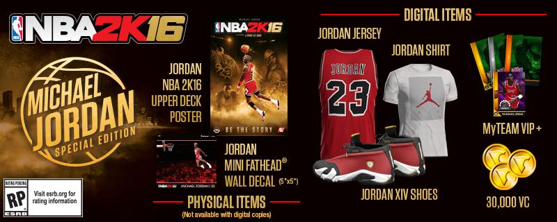 NBA 2K16 Michael Jordan Special Edition Bonus Items