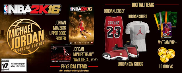 NBA 2K16 Michael Jordan Special Edition Items