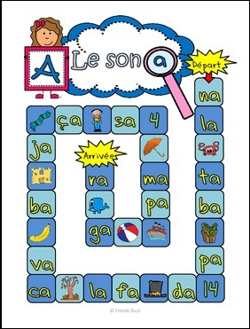 https://www.teacherspayteachers.com/Product/Le-son-a-jeu-de-loie-Board-Game-French-1697845