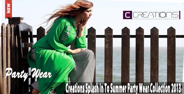 Creation Splash In To Summer Party Wear Collection 2013 - http://worldfashioncorner.blogspot.com