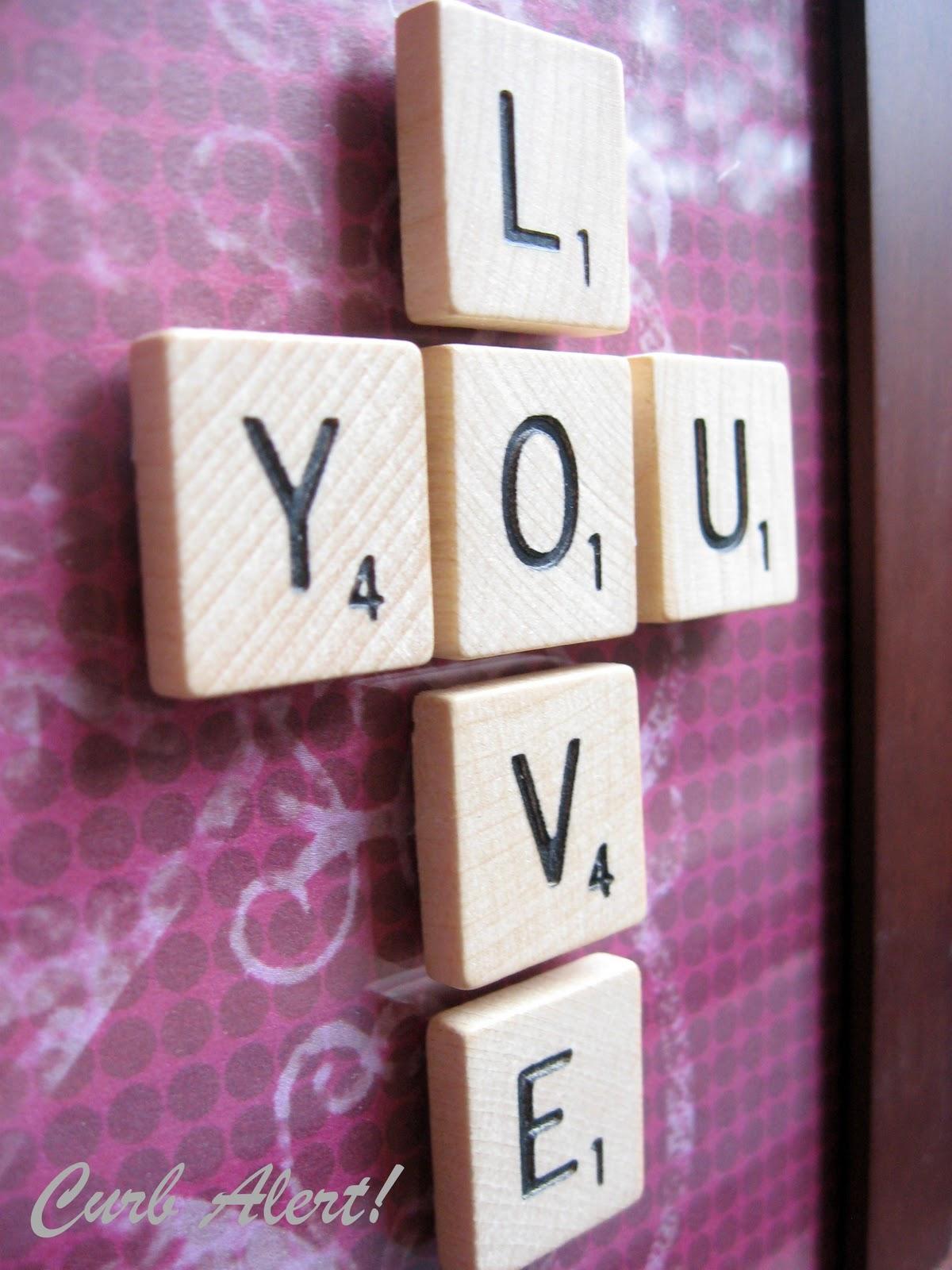 Valentine Love Frame Scrabble Letters Curb Alert Blog