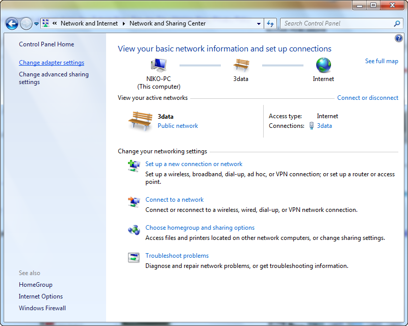 how to change local ip address in windows 8