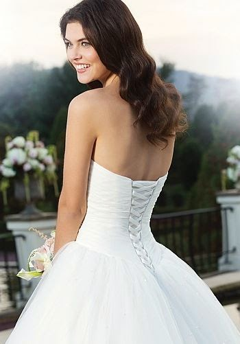 SHADES OF WHITE: How to lace up a corset back Wedding Dress.