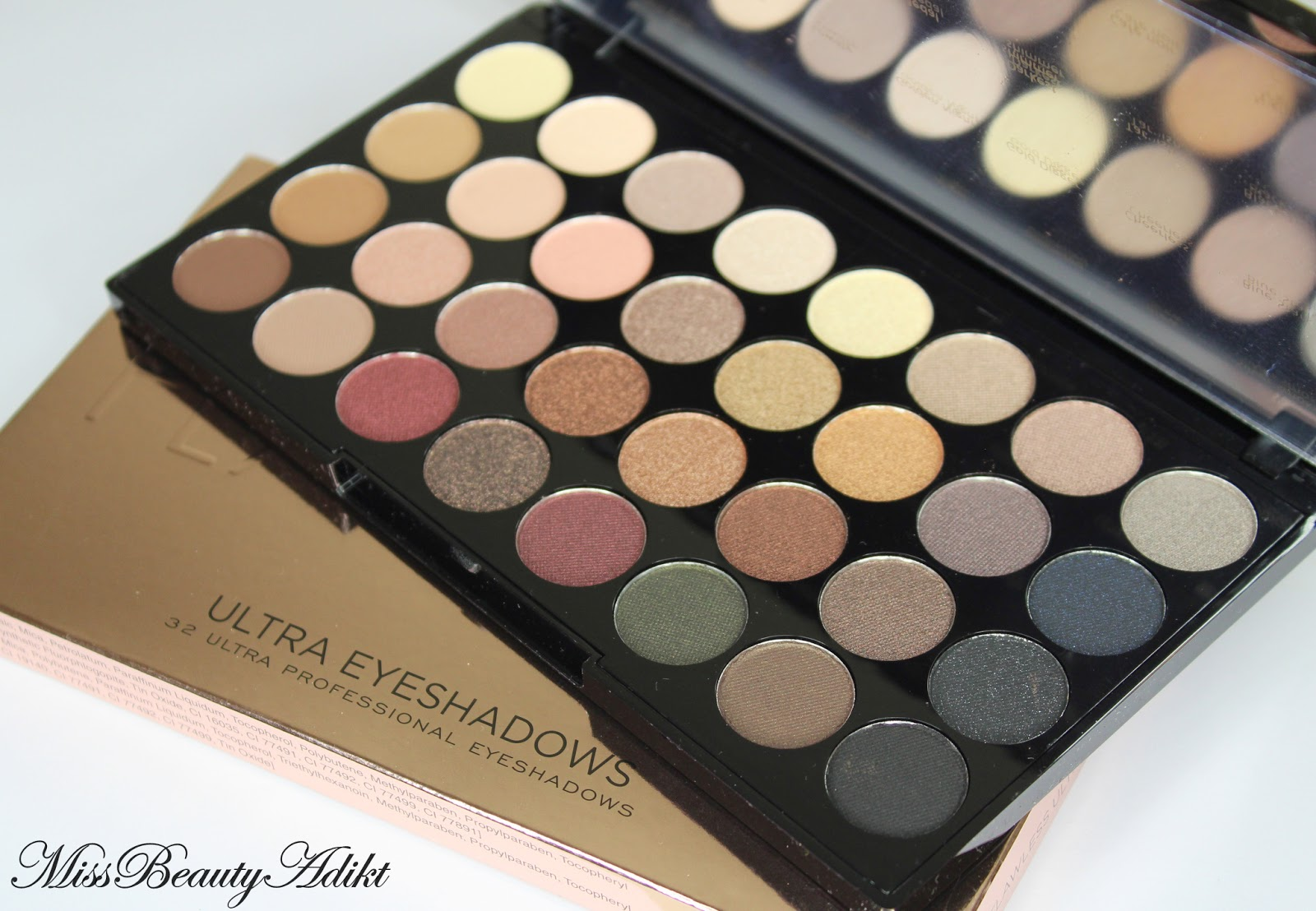 Makeup Revolution Ultra 32 Eyeshadow Palette in Flawless Review + Swatches