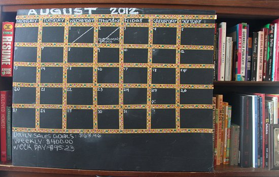 Diy Large Calendar : Calendar diy large chalkboard quot desktop