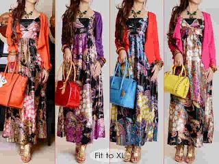 Maxi dress silk kode 9051