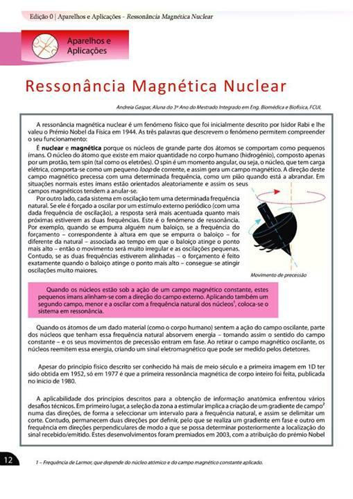 Ressonância Magnética Nuclear!