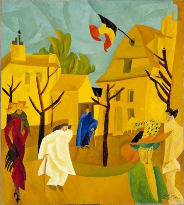 Lyonel Feininger  Yellow Street II