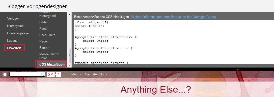 CSS hinzufügen